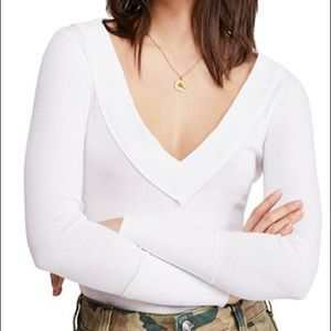 Free People Lily Textured Seam-Detail Top